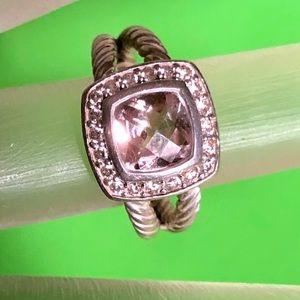 David Yurman Albion ring with diamonds. Size5